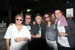 PAice, Welz, Glover, Walsh, Radner Backstage Basel Switzerland 2012 after Show Party.