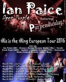 Ian Paice Tour 2016